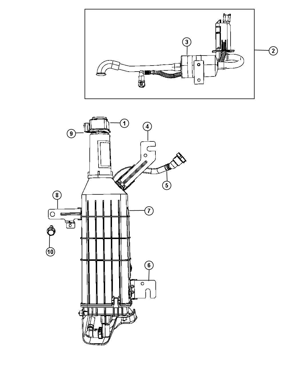 Dodge Grand Caravan Filter  Fuel Vapor Vent  Dectection