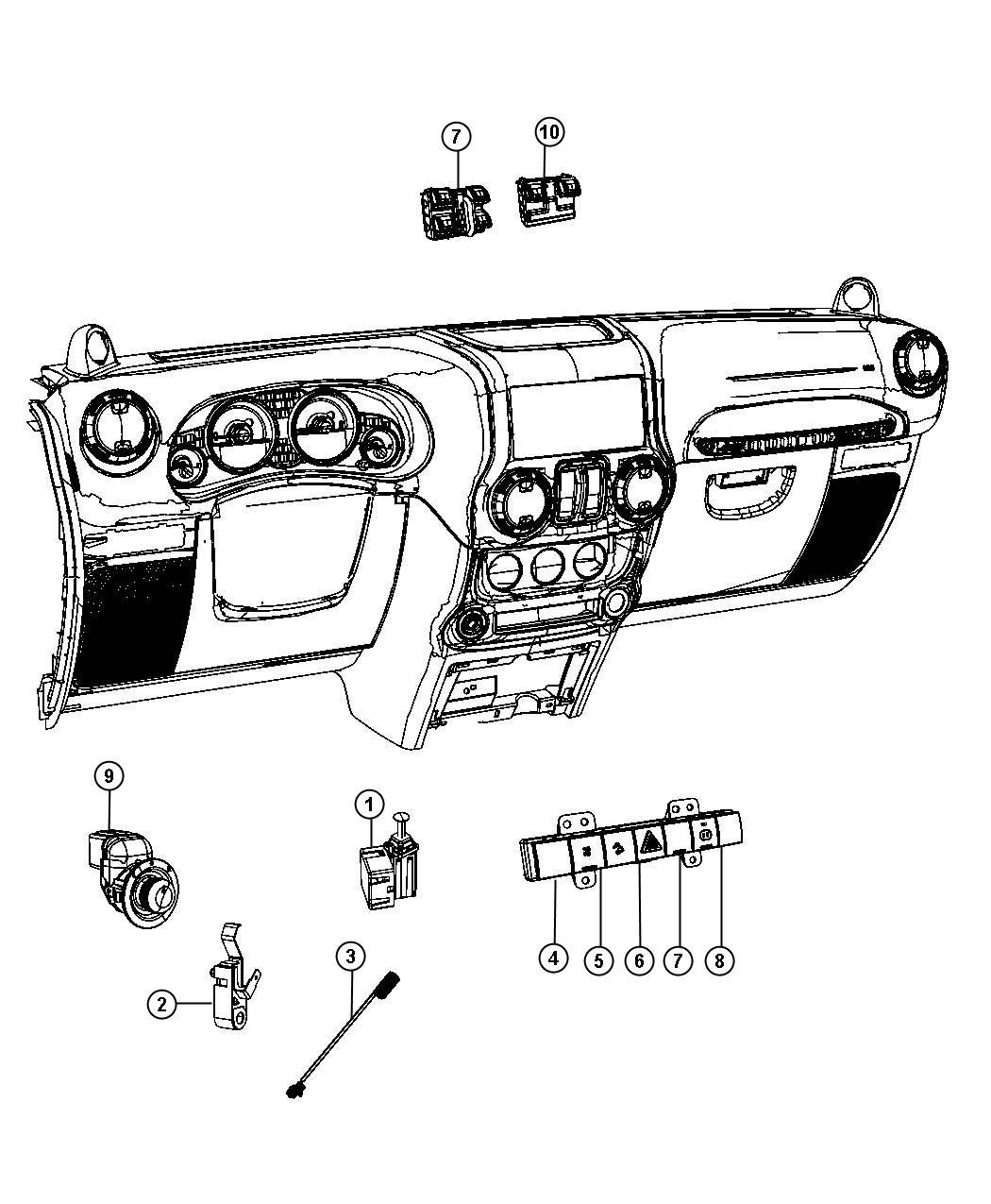 Jeep Wrangler Switch  Instrument Panel