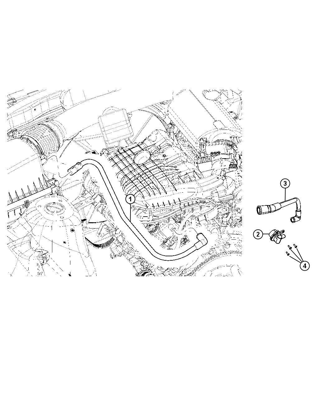 68083202ab jeep hose valve pcv mopar parts overstock. Black Bedroom Furniture Sets. Home Design Ideas