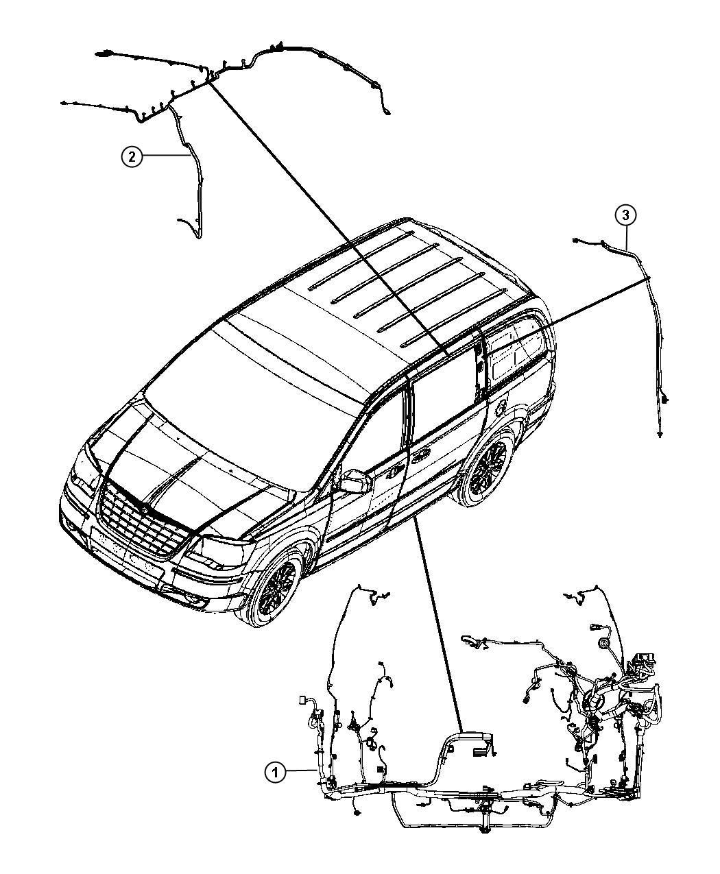 Ram Cargo Van Wiring  Body  Export   Right Power Sliding