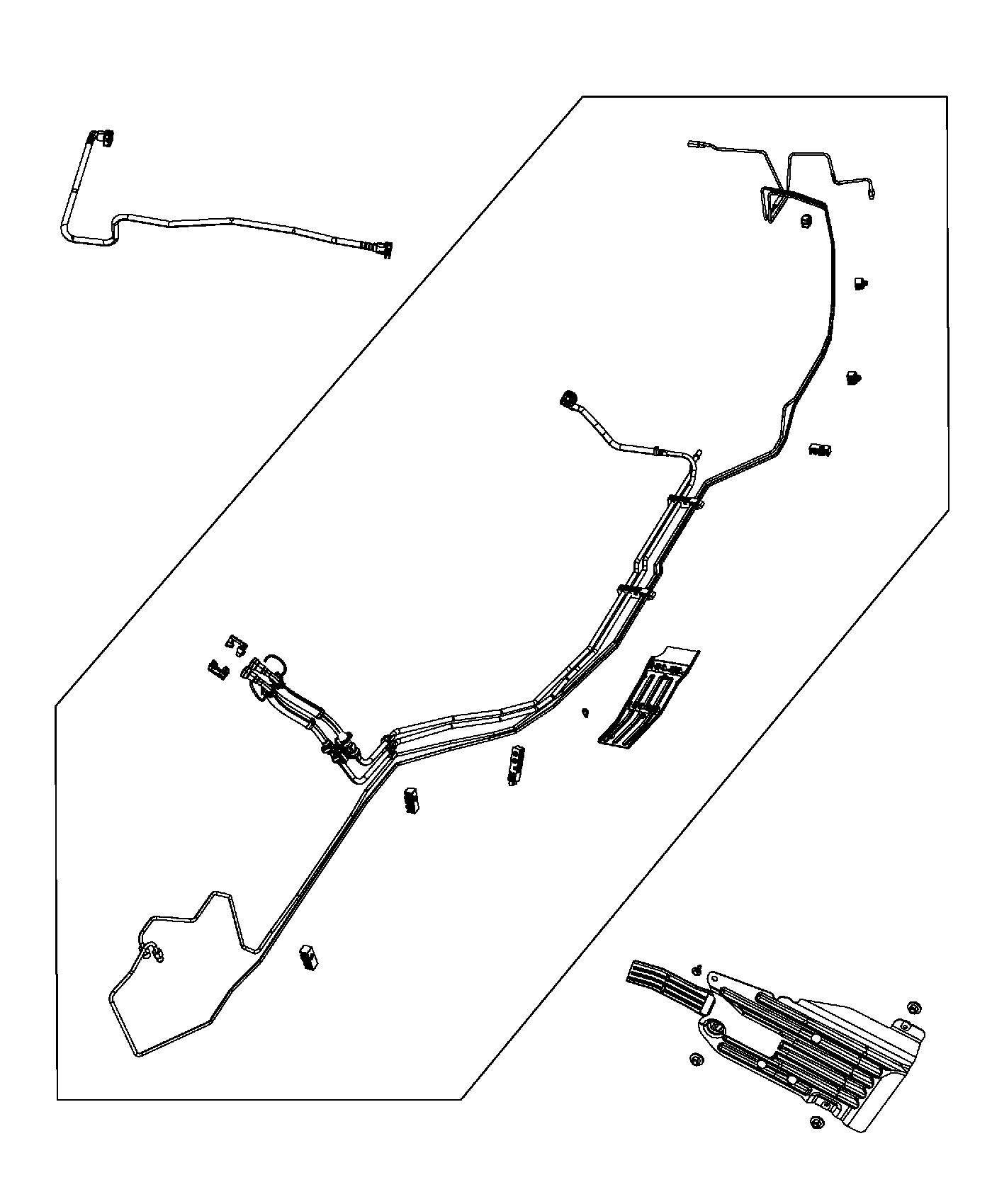 Jeep Grand Cherokee Latch  Used For  Fuel And Brake Tube