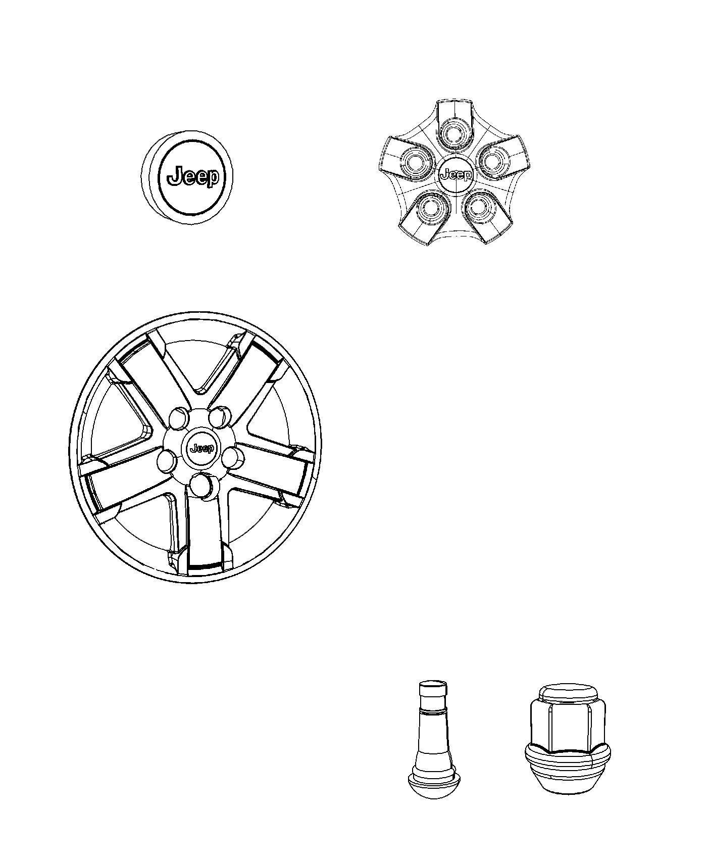 2014 jeep compass cap  wheel center   wf9  or  wrg    wfp  or  wp5    whg  or  wfg    wrg