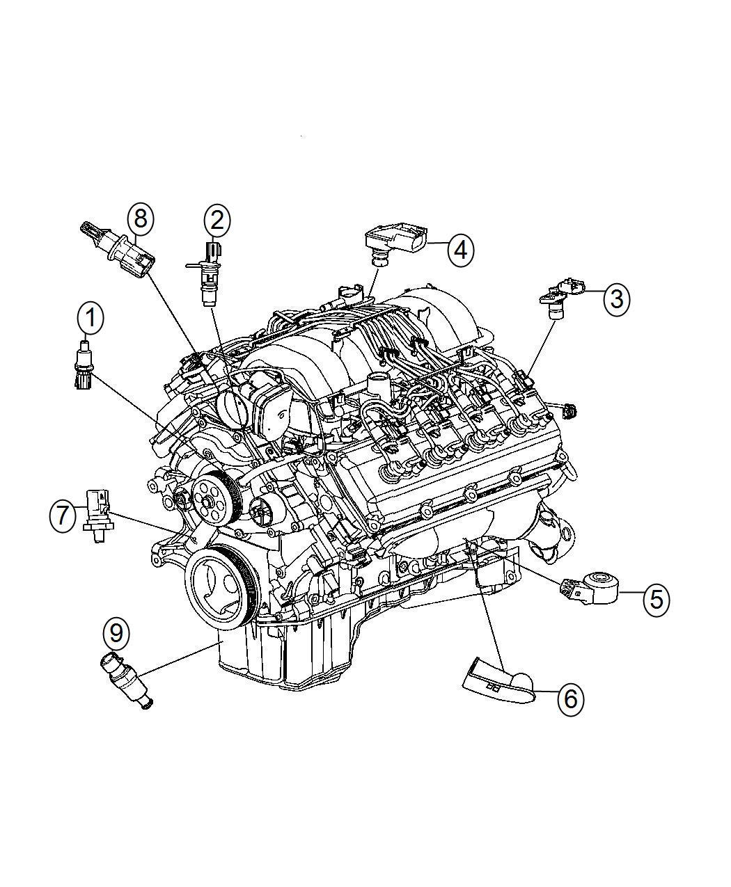 2007 Chrysler 300 Hemi 57 Engine Diagram