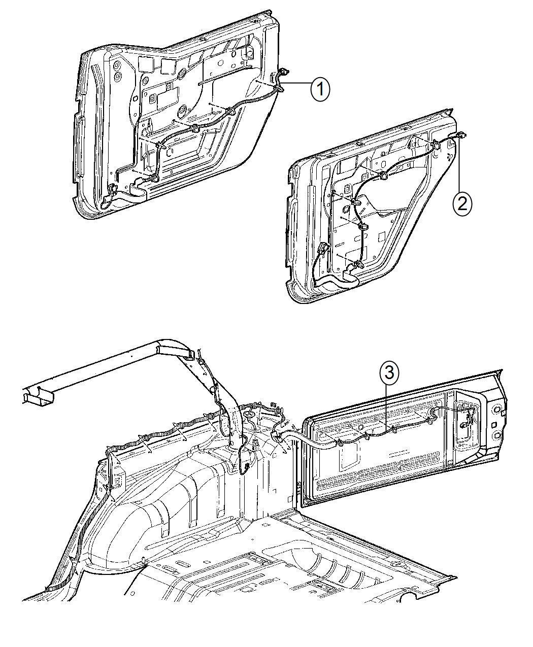 i2304099 Jeep Jk Power Door Lock Actuator Wiring Diagram on