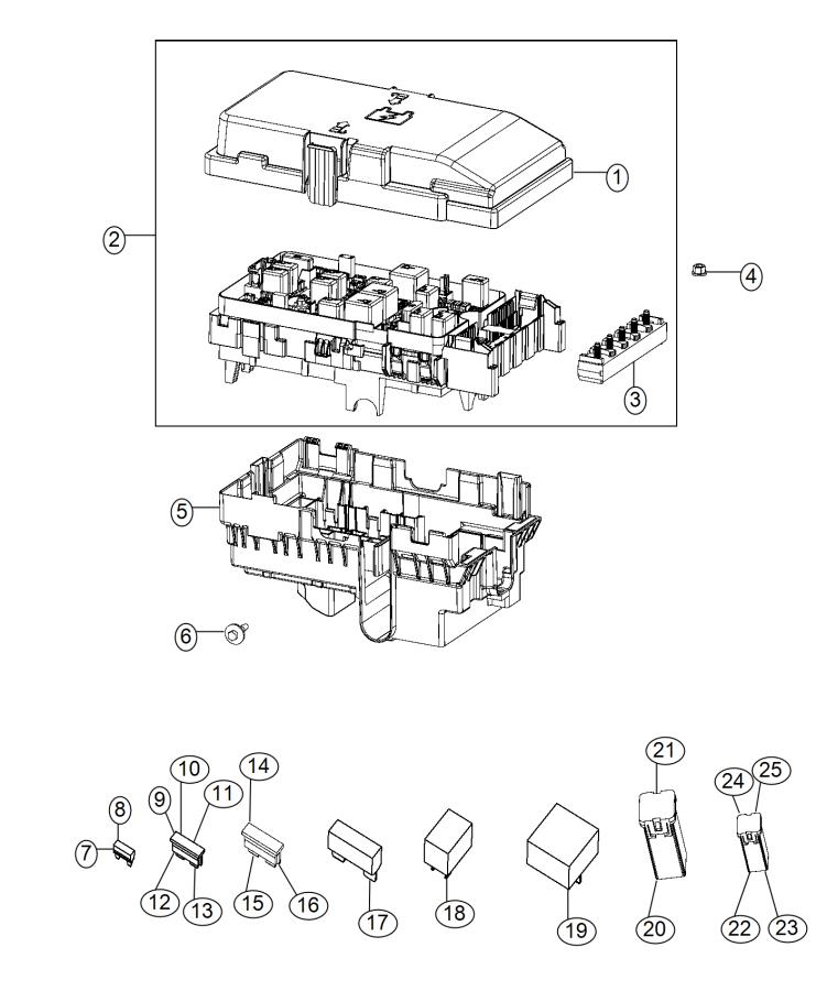 2015 chrysler 200 fuse  m case  mini j case  30 amp