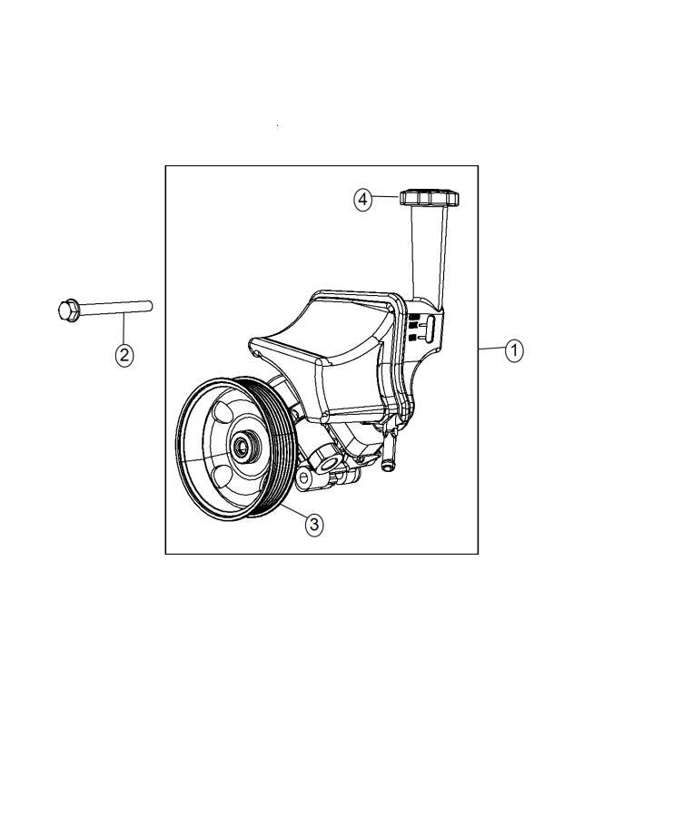 Dodge Challenger Cap  Power Steering Reservoir   6 2l