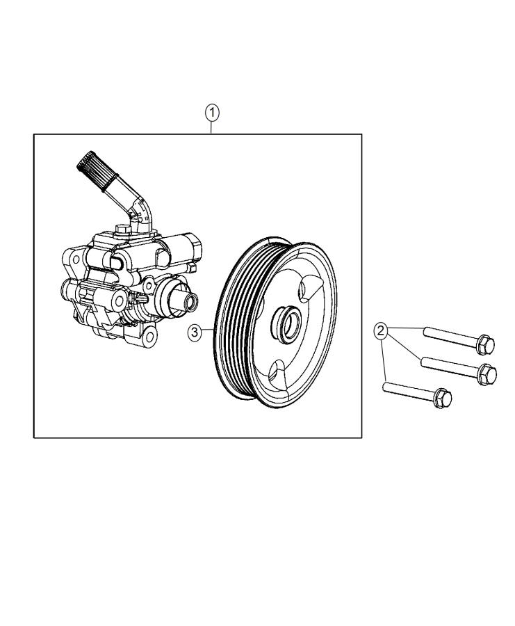 Jeep Grand Cherokee Pump  Remanufactured  Power Steering
