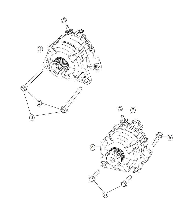 Alternator. Diagram
