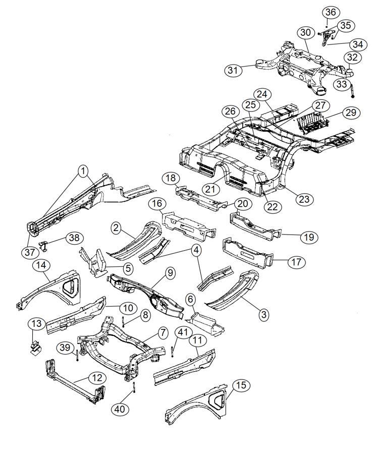 Dodge Charger Crossmember  Front Suspension