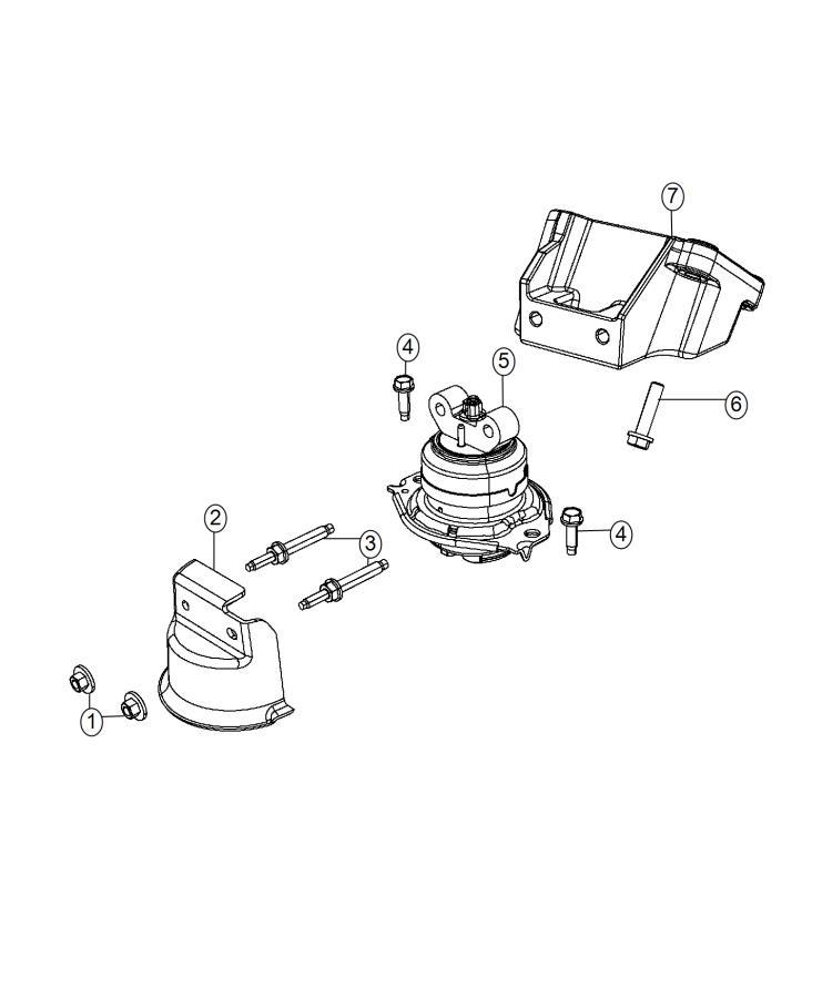 2016 Chrysler 300 S 5 7l Hemi V8 Heat Shield  Engine Mount