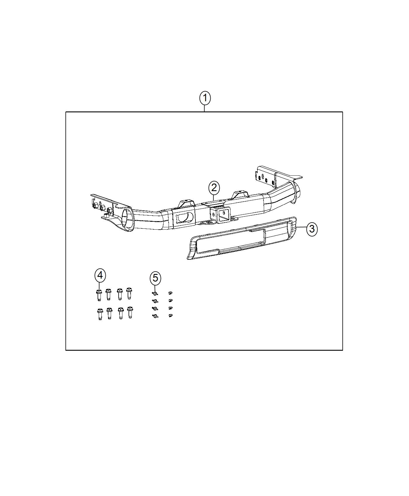 82214135ab - dodge hitch receiver