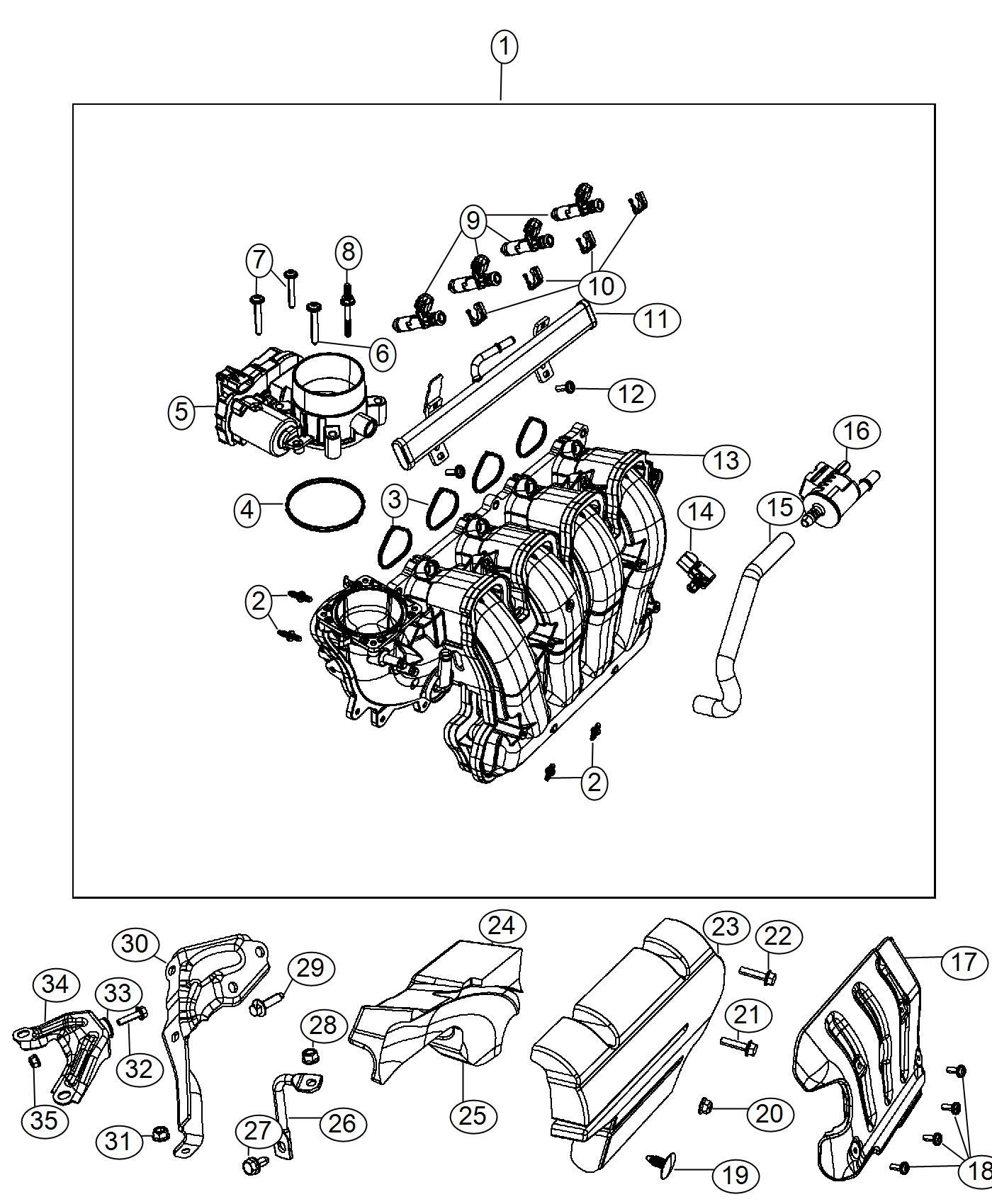 2016 Dodge Dart Sxt 2 4l I4 A  T Strut  Intake Manifold