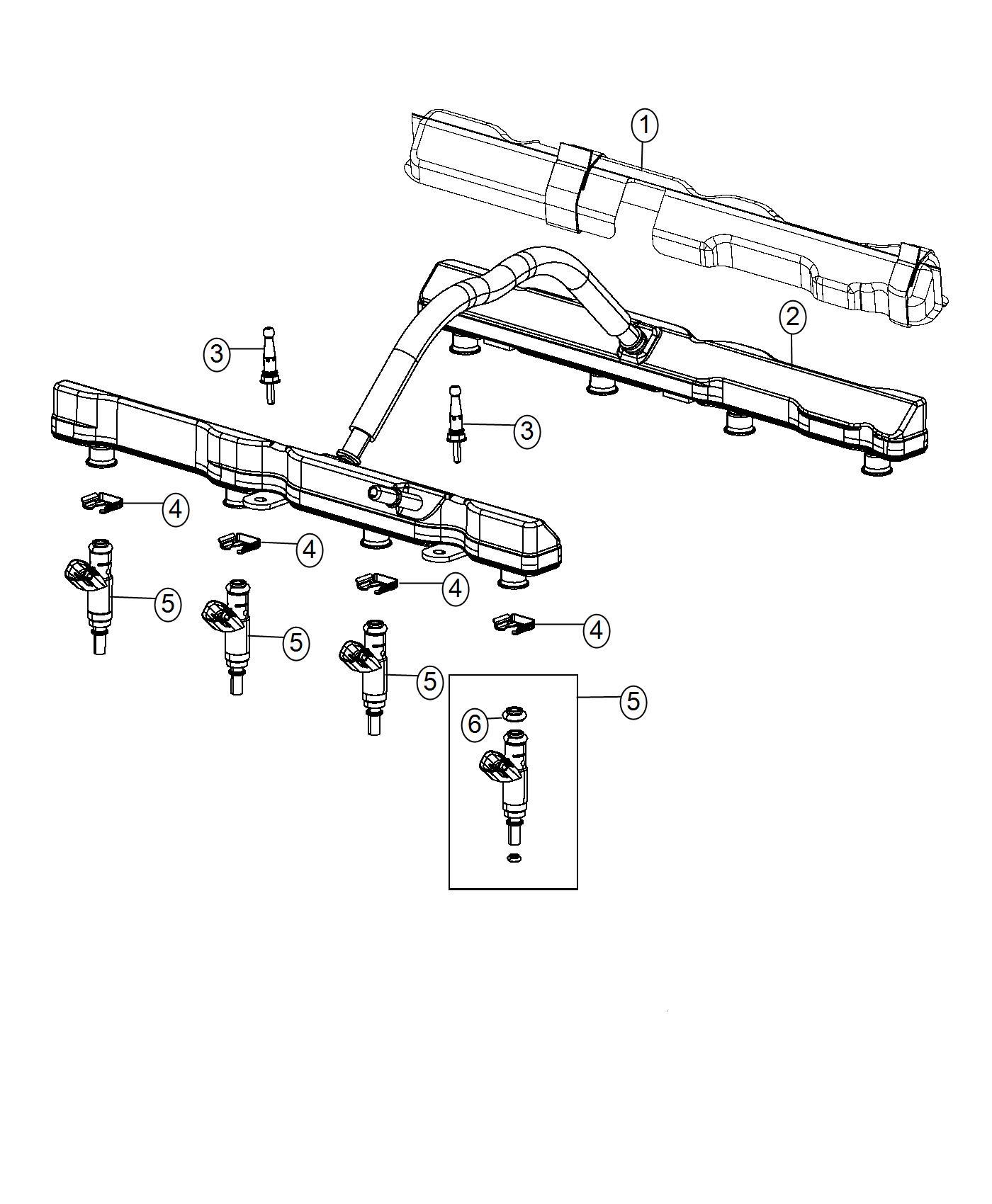 Chrysler 300 Cover  Fuel Rail   6 4l V8 Srt Hemi Mds
