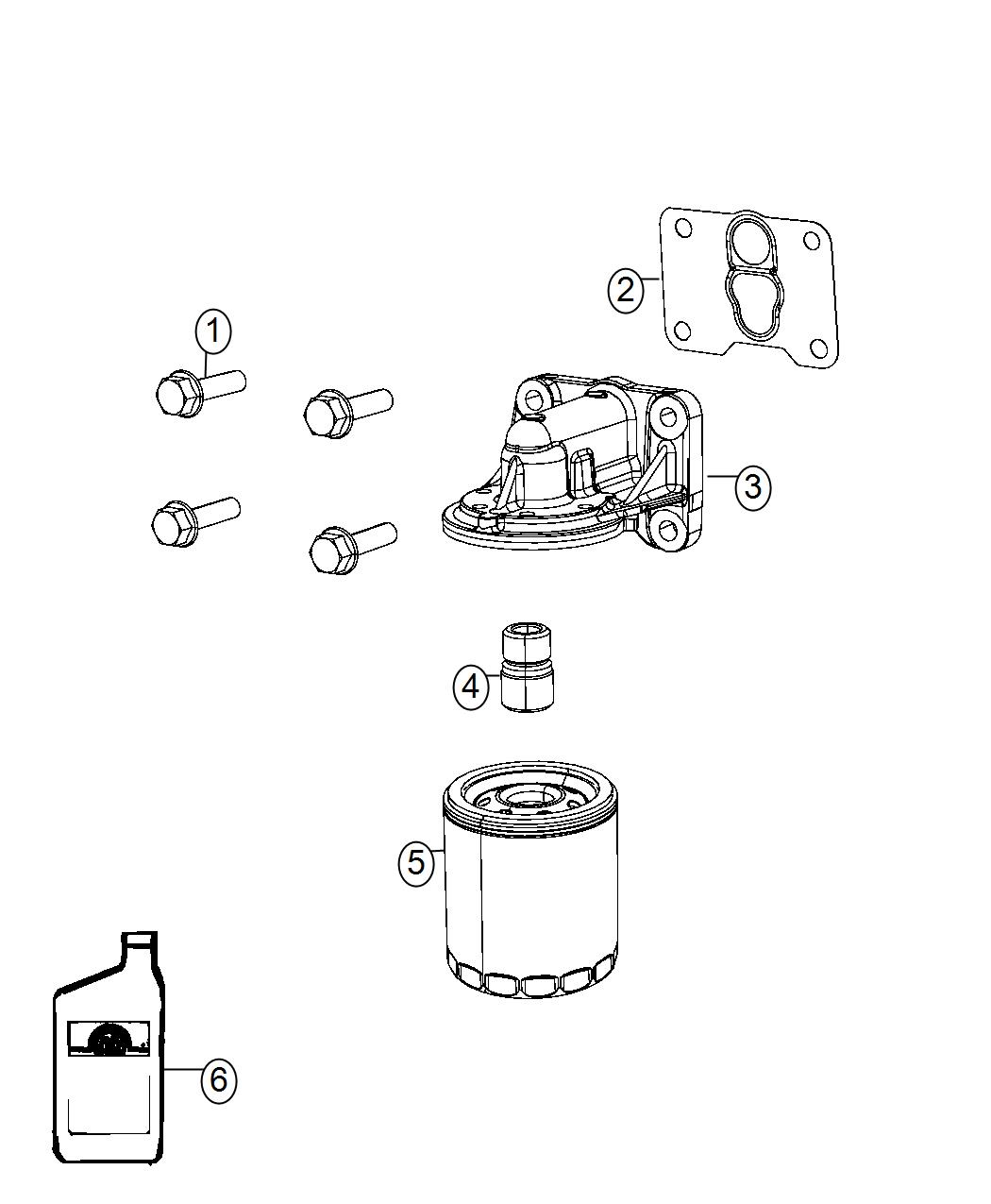 2016 Dodge Dart Adapter  Oil Filter