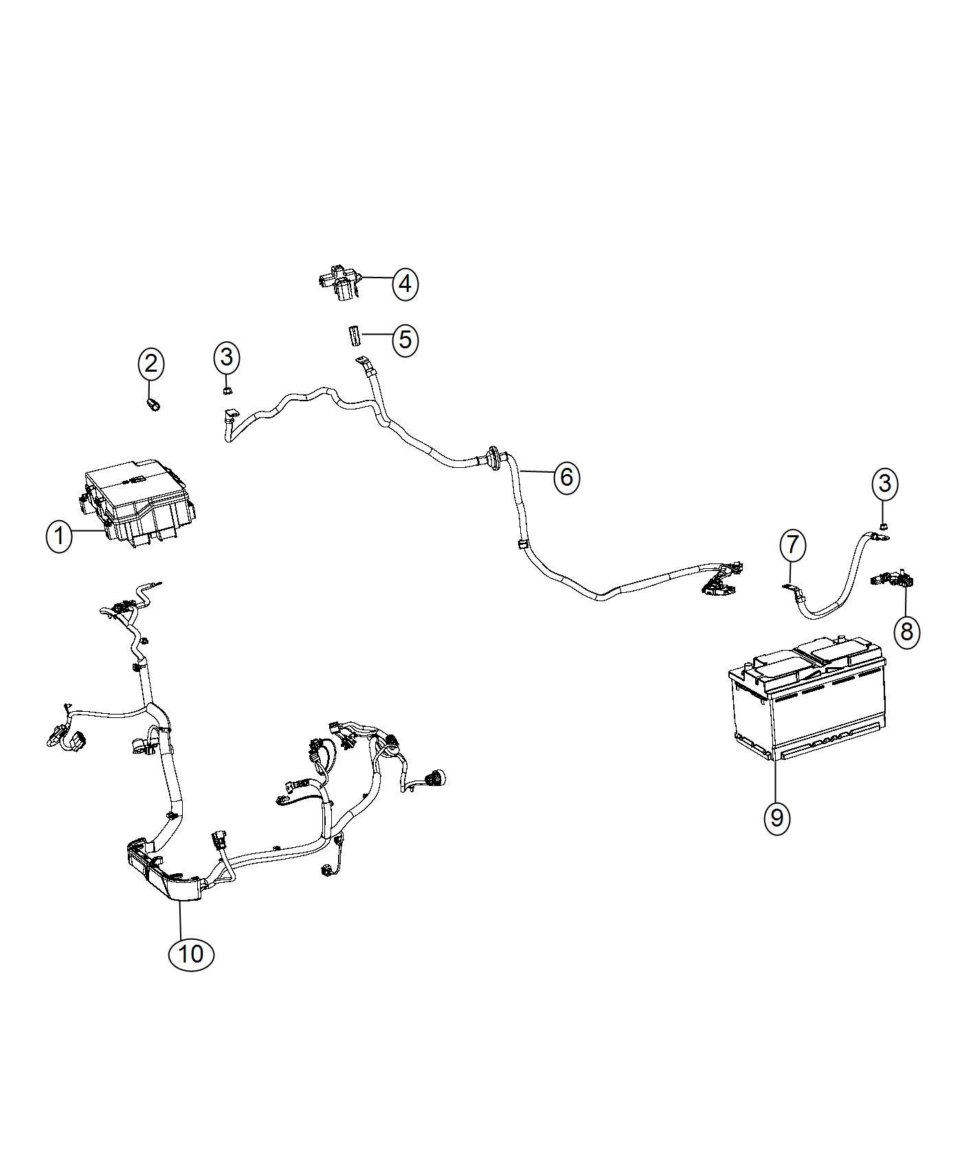 2016 Jeep Grand Cherokee Sensor  Battery