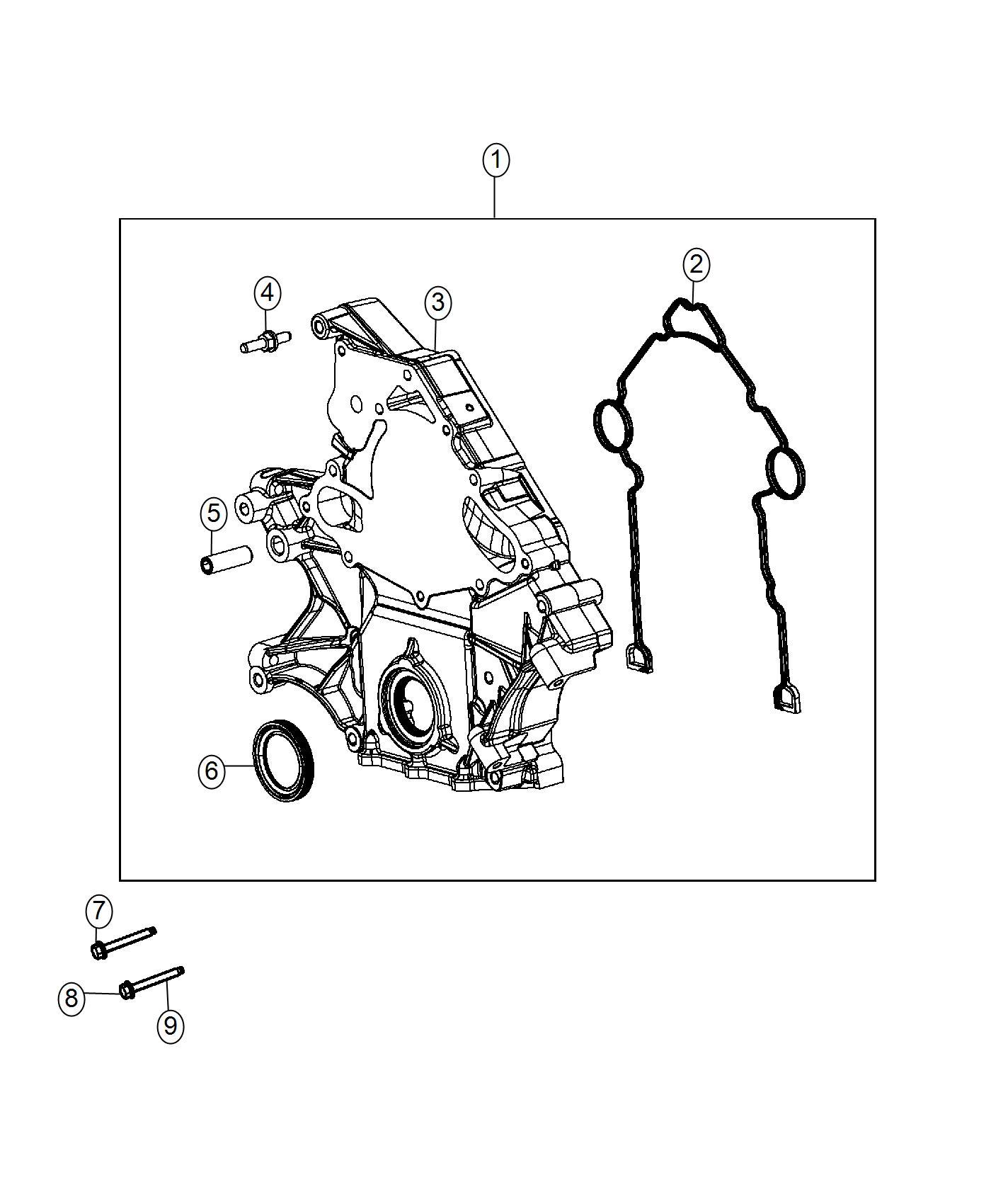 2016 Jeep Grand Cherokee Cover  Timing Case  Esh
