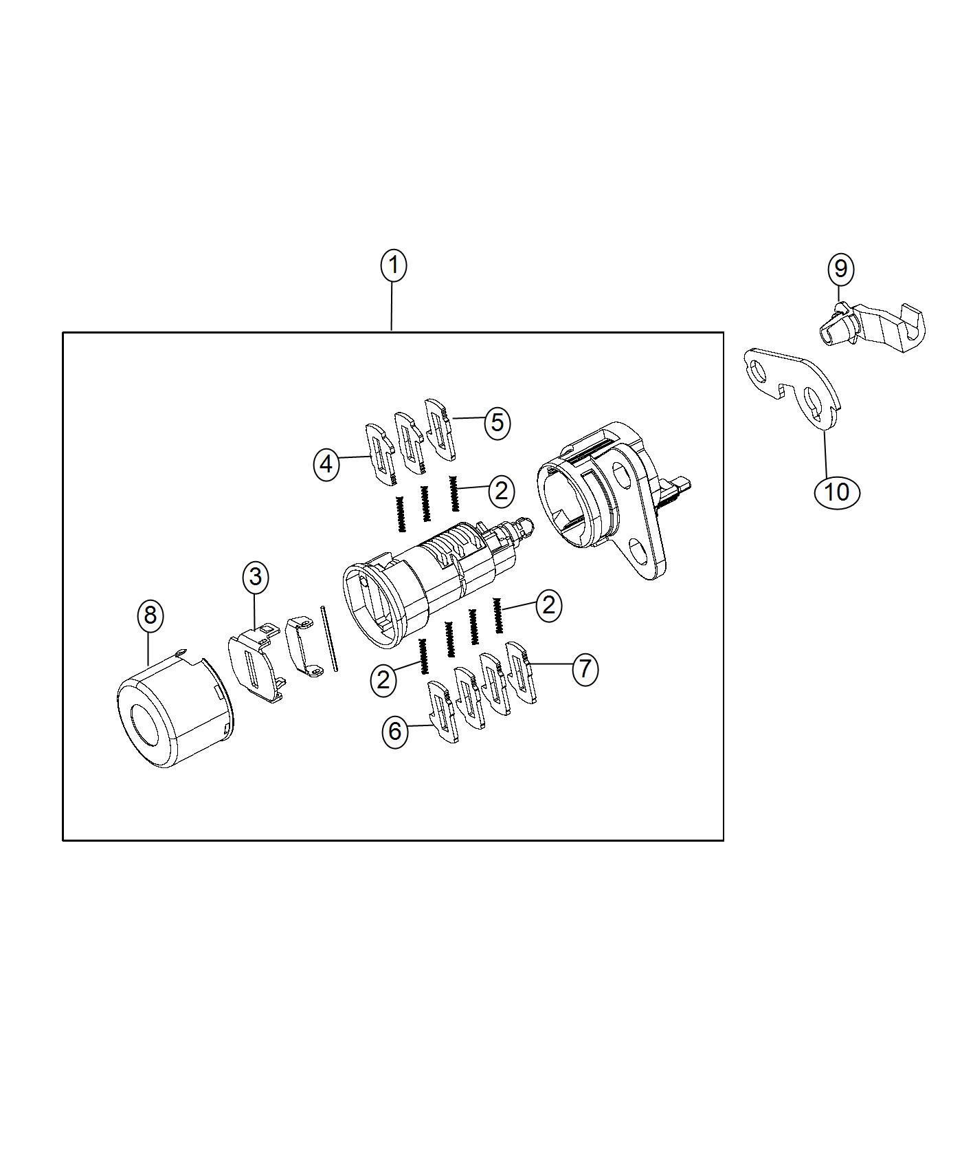 2016 jeep grand cherokee cylinder  door lock  left  right   lock fuel cap w  o discriminator