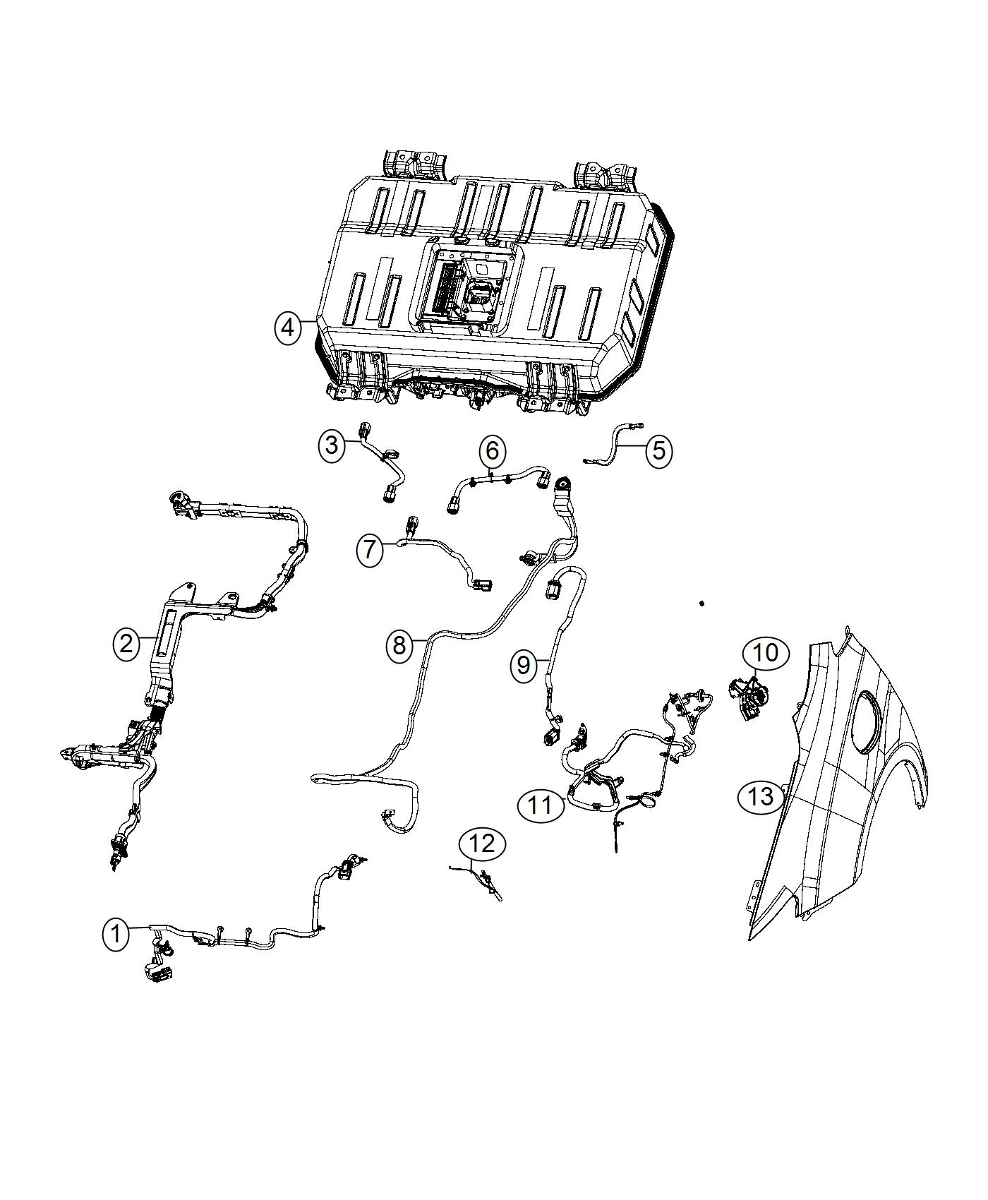 Chrysler Pacifica Wiring  Charge Port In Line   Phev Adaptation Components