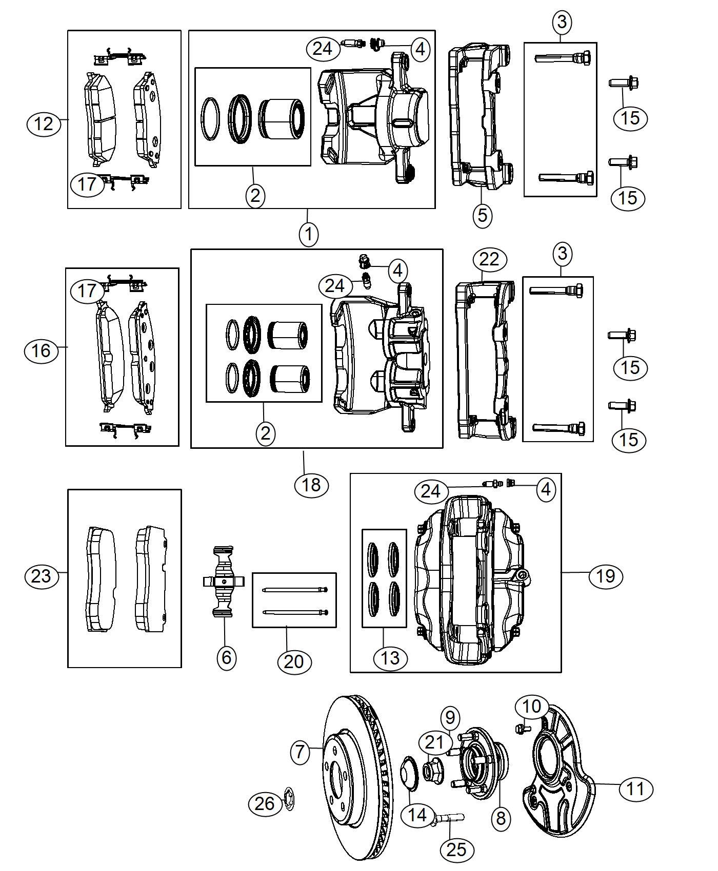 Dodge Challenger Caliper Assembly  Disc Brake  Front