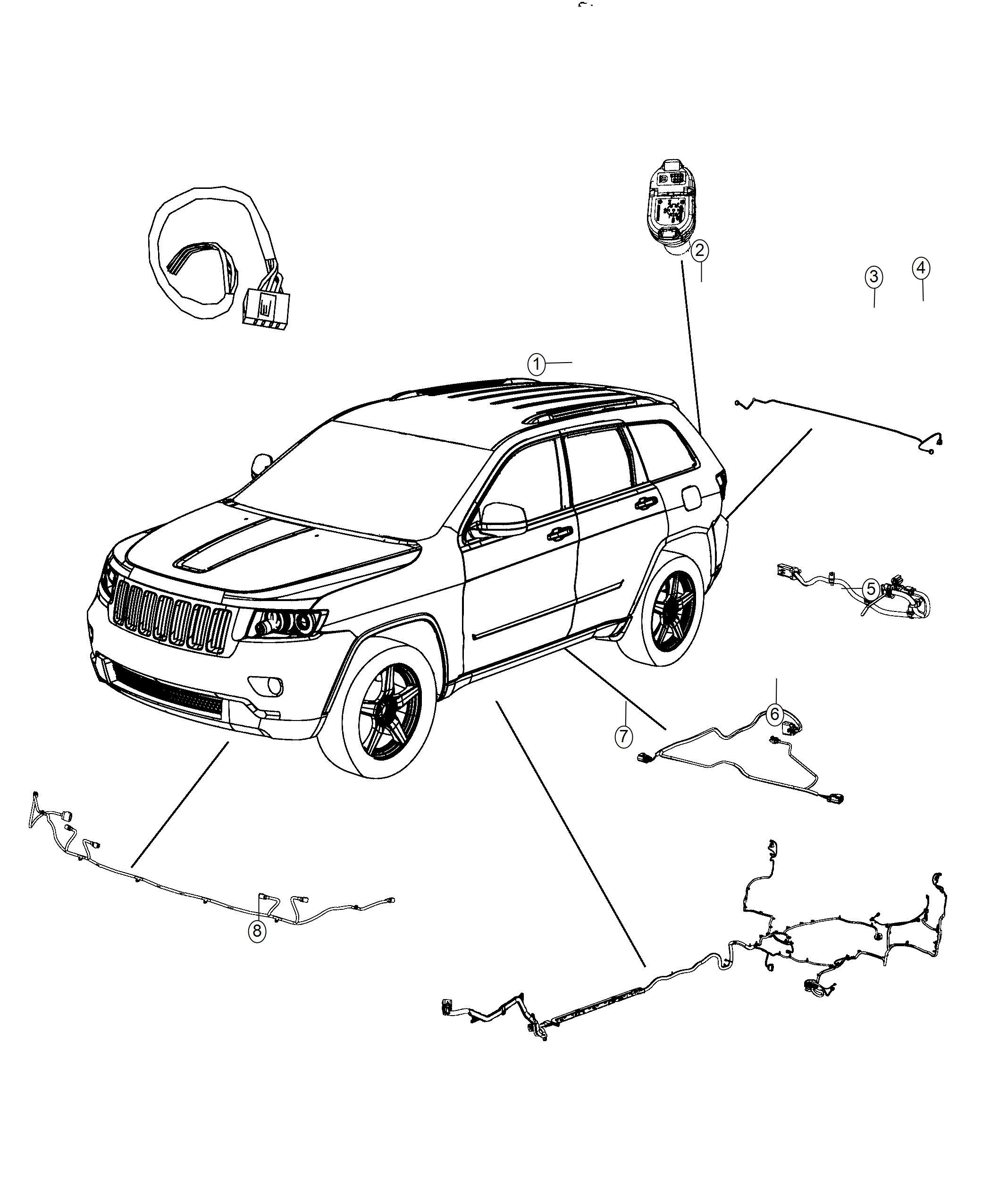 Jeep Grand Cherokee Wiring  Underbody  Export