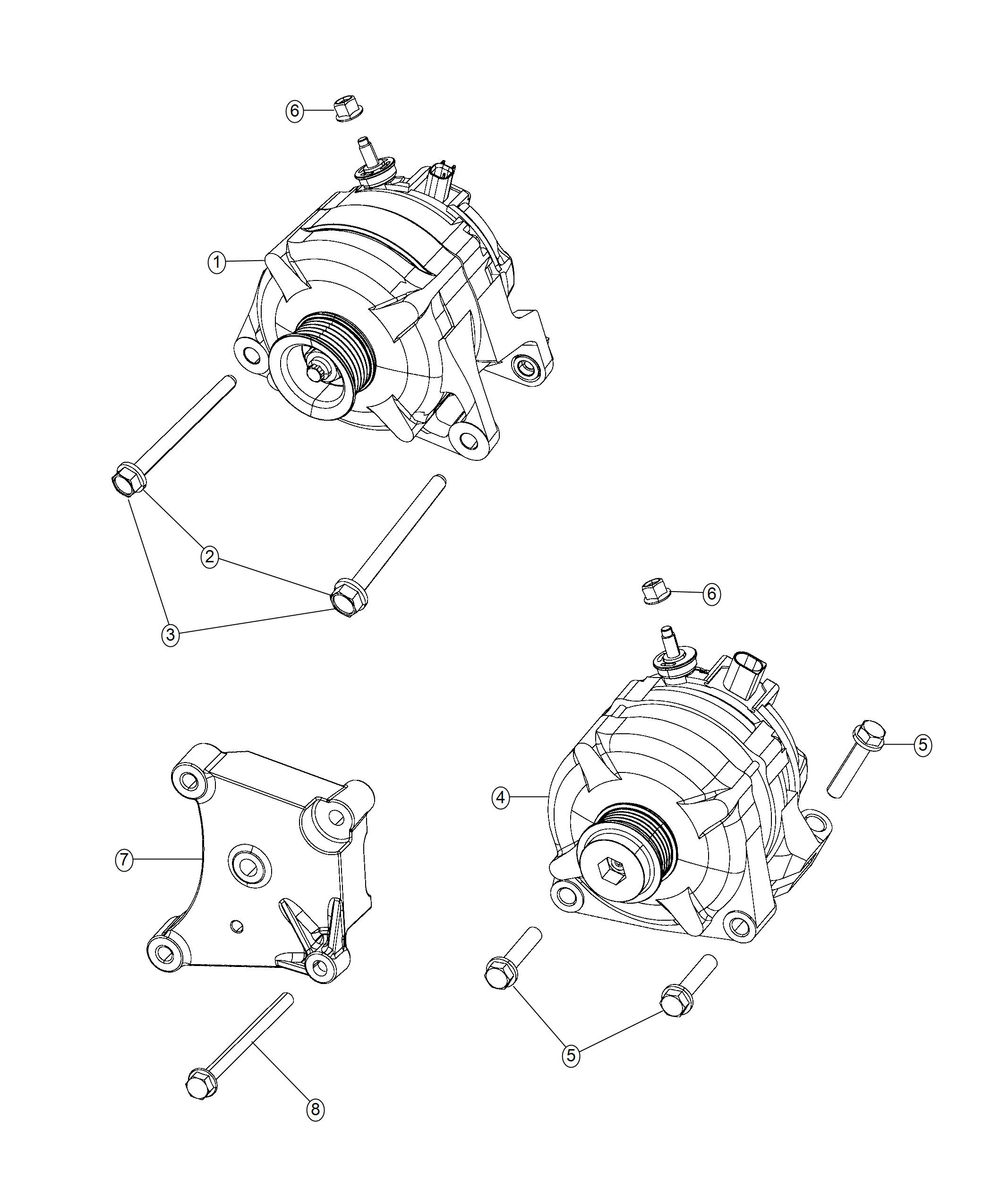Generator/Alternator. Diagram