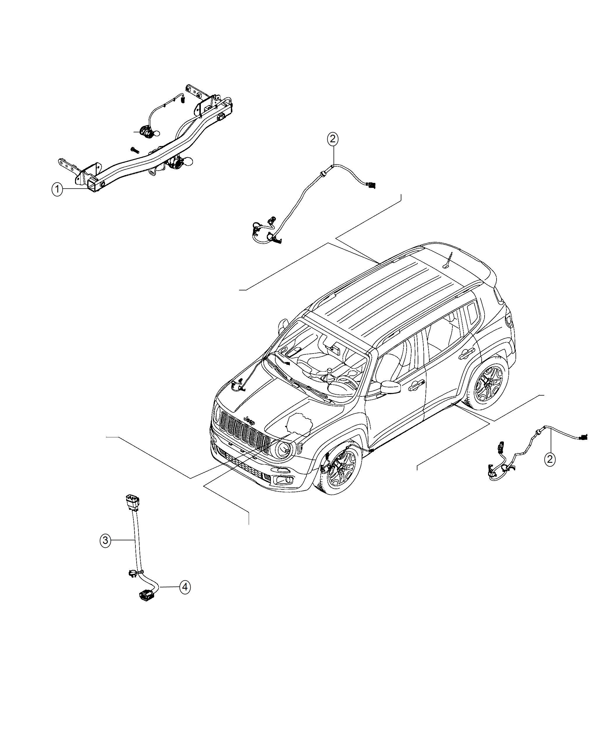 Jeep Renegade Wiring  Jumper  Transmission  Export