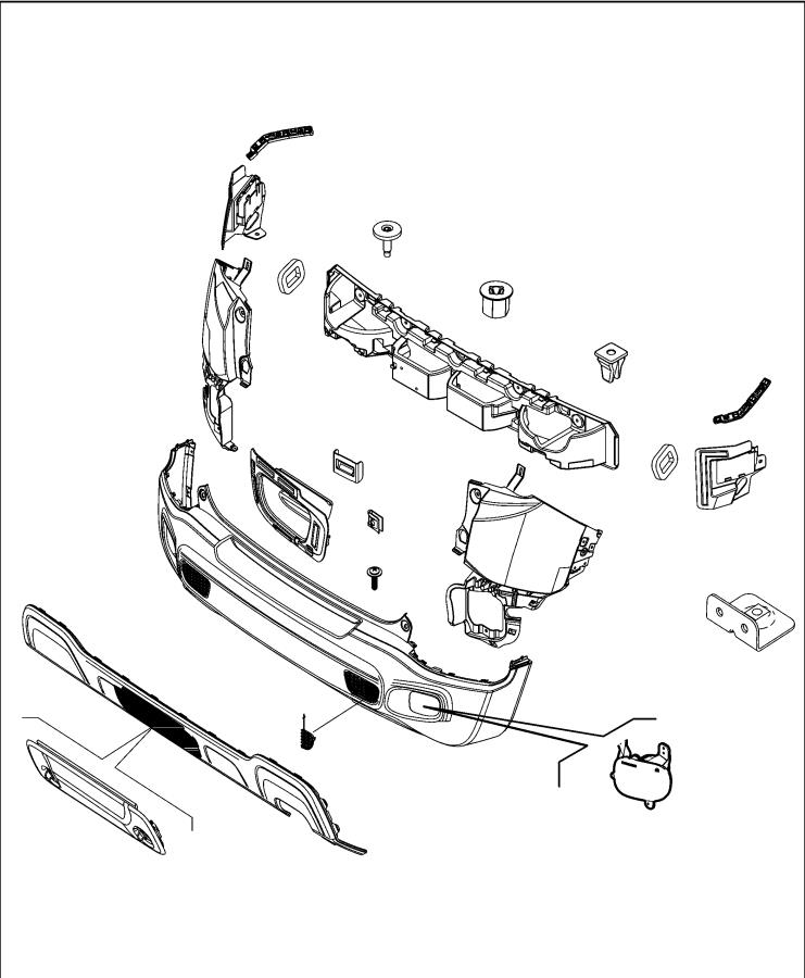 Jeep Renegade Fascia  Rear  Trim    O0  Color   No