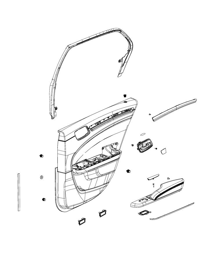Chrysler 300 Applique  Rear Door  Right  Trim   Cloth Srt
