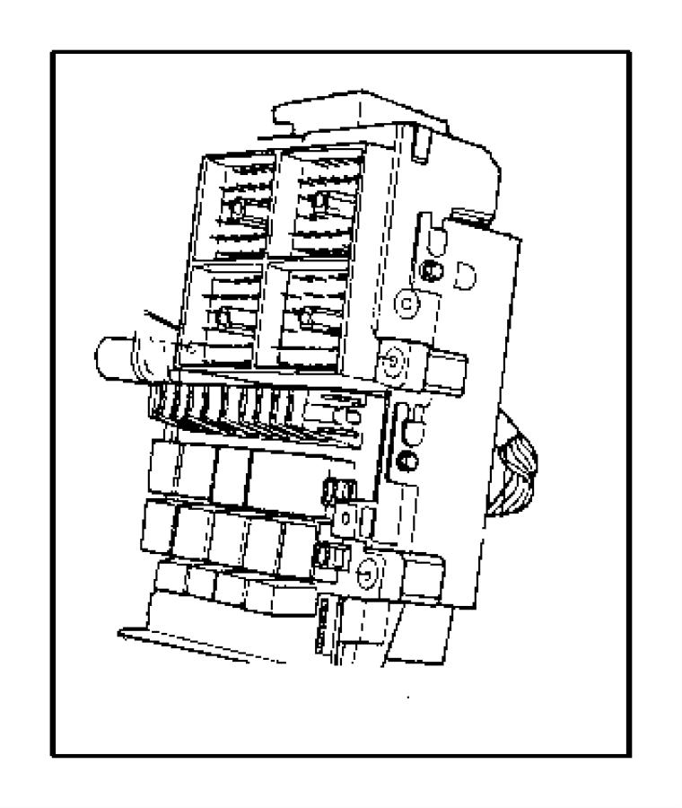 1998 dodge caravan junction block  relay  retractablefog