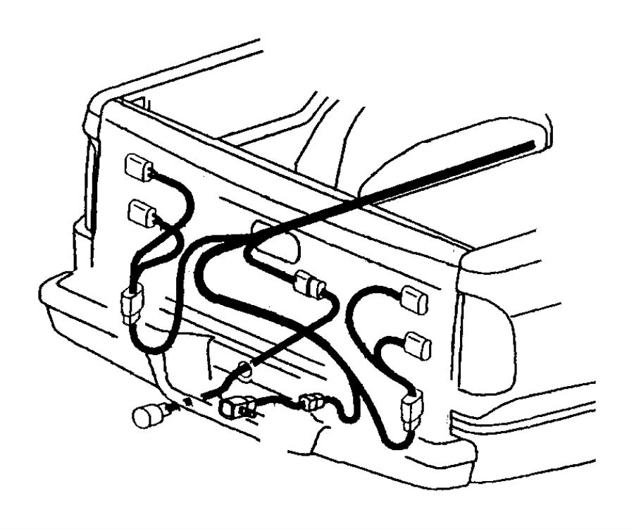 1997 dodge ram 1500 wiring  trailer tow
