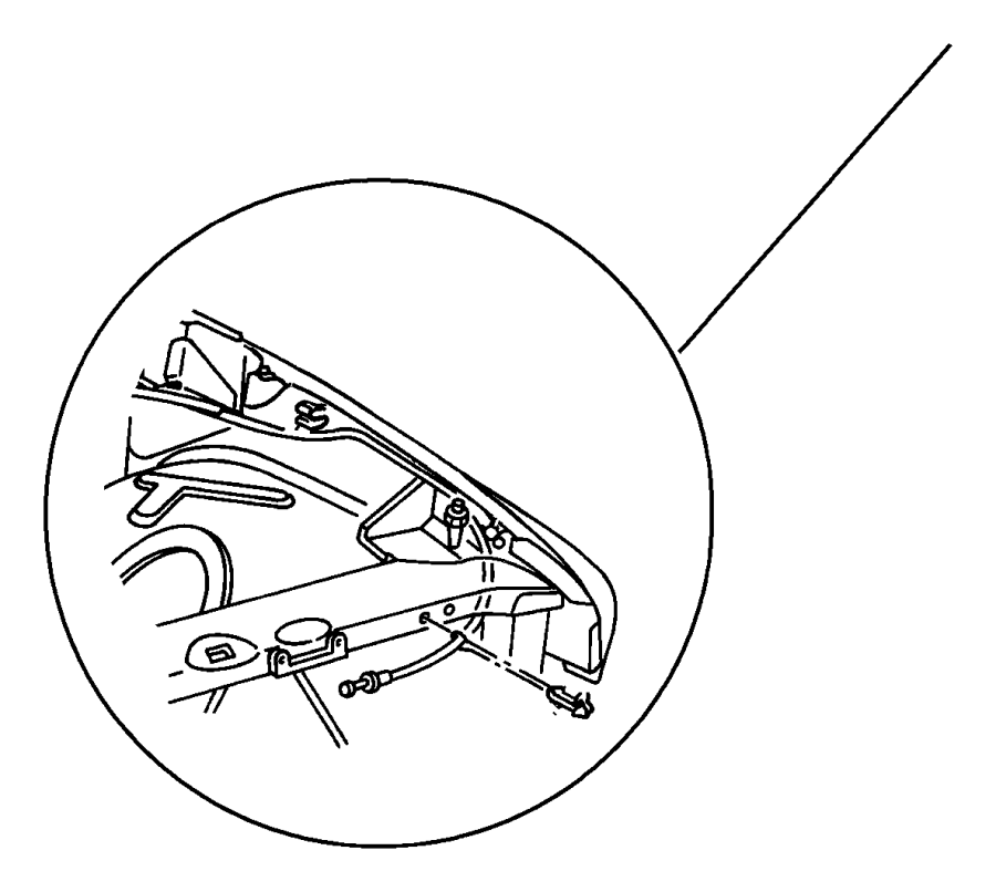 chrysler pt cruiser clip  latch link  inside remote  left  mounting  power door locks  trim