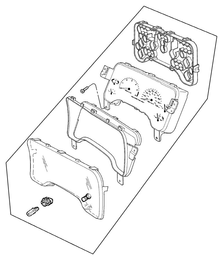2005 jeep wrangler lens  cluster  trim   all trim codes   wtachspeedometer  primaryinstrument