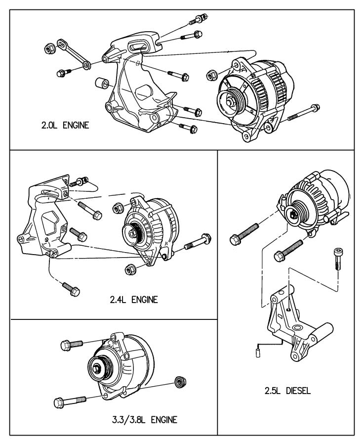 Plymouth Breeze Generator  Engine   90 Amp Alternator