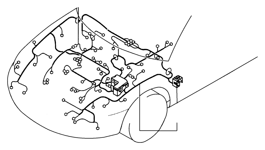 Chrysler Sebring Wiring. Chassis. Right side. With abs and ...