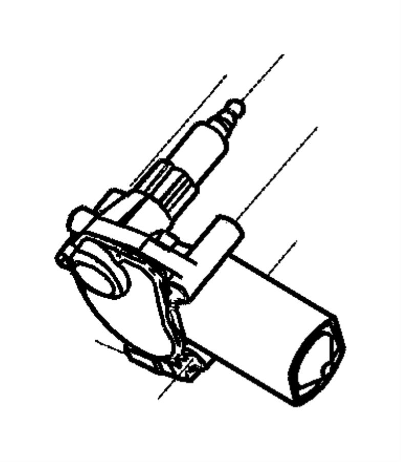 chrysler pt cruiser nut  round  m6 x 1 00  liftgate wiper