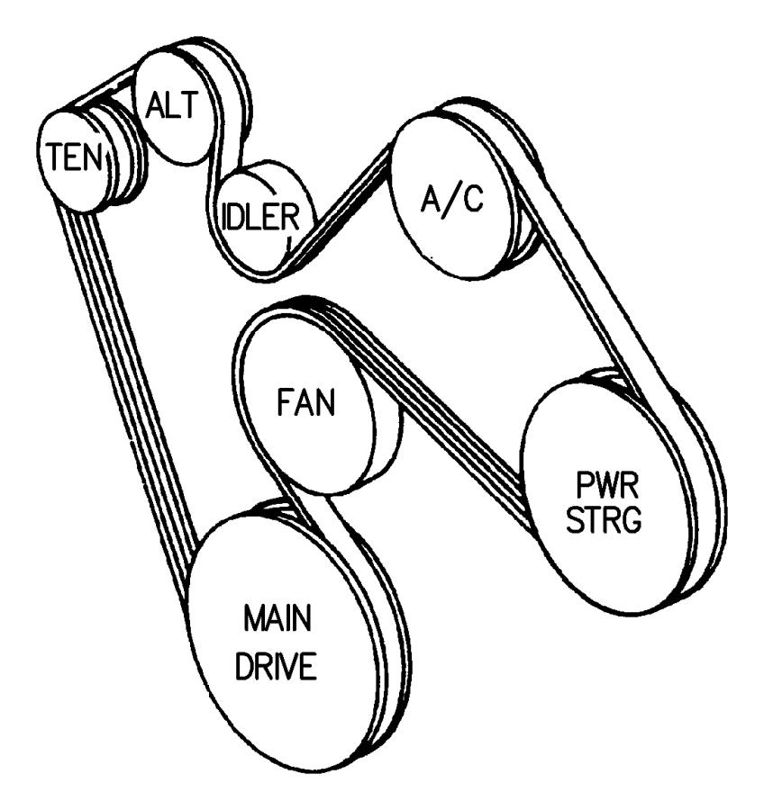 2001 dodge belt  accessory drive  serpentine  vbelts  hac