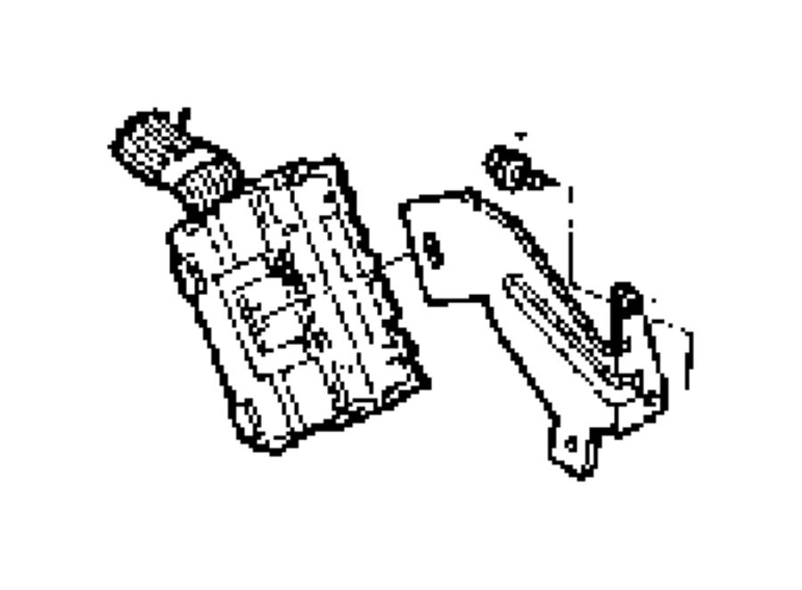 Ram Dakota Bracket  Instrument Panel  Drb Connector