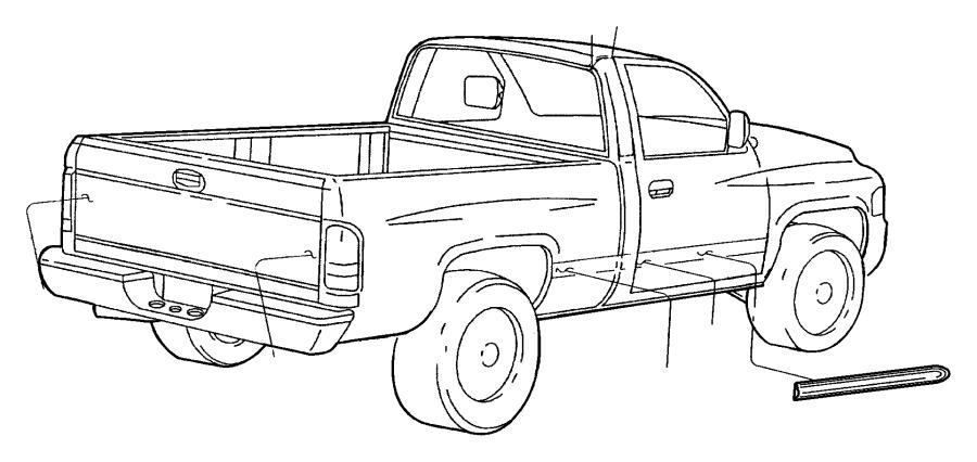 2001 dodge ram 1500 applique  tailgate  applique  tailgate