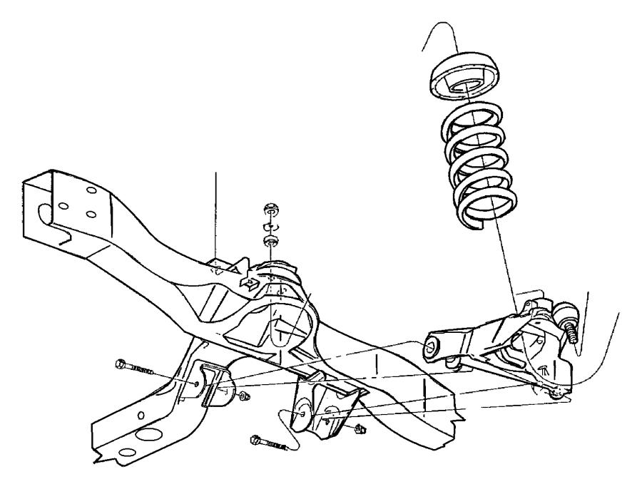 52038816 mopar bumper lower control arm jounce sdb for Suspension sdb