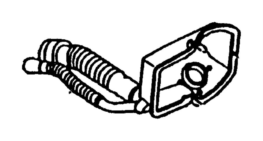 2004 dodge hose  fuel filler