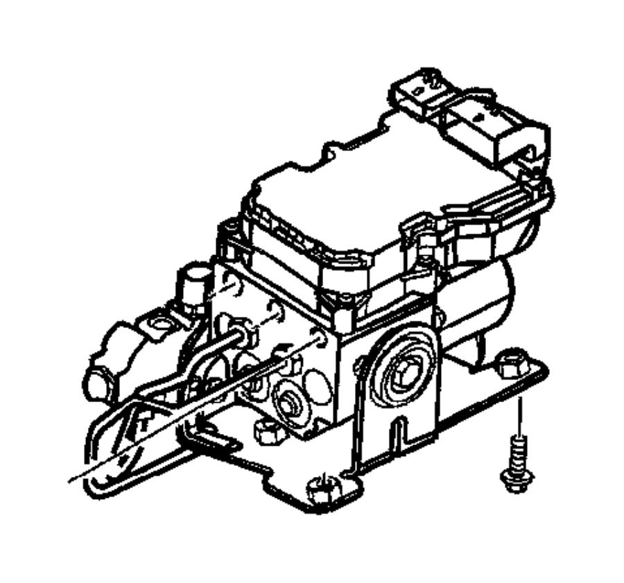 2002 dodge durango hydraulic control unit  anti