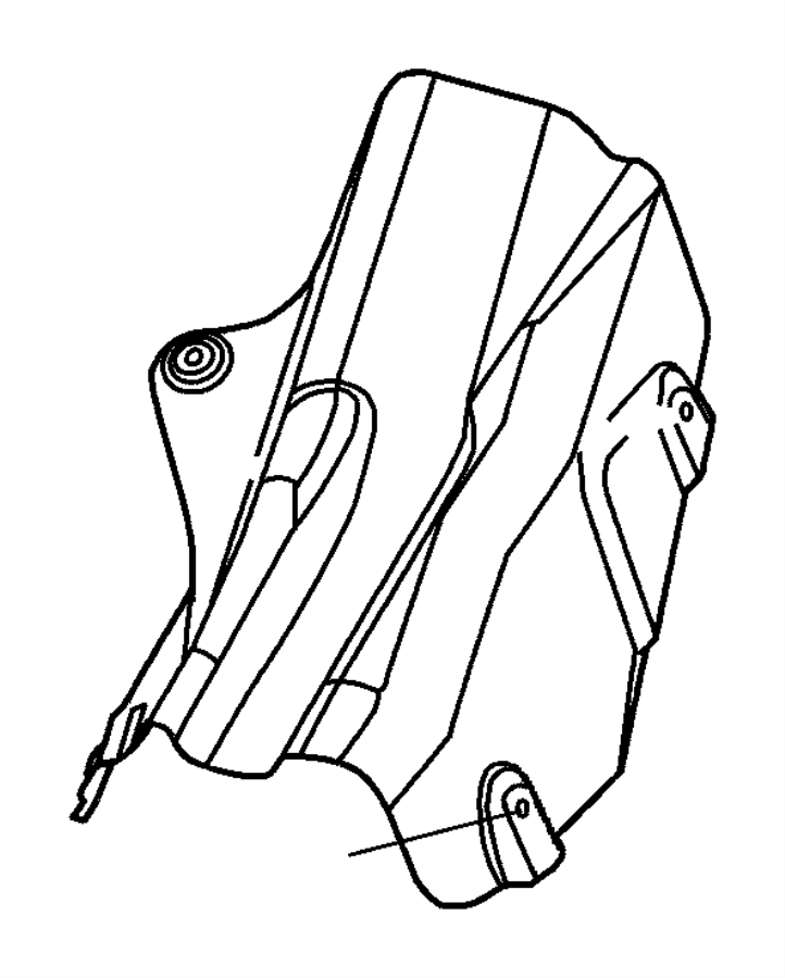 Dodge Durango Nut  Heat Shield Attach  M5x1 60  Brake Line Shield To Rail