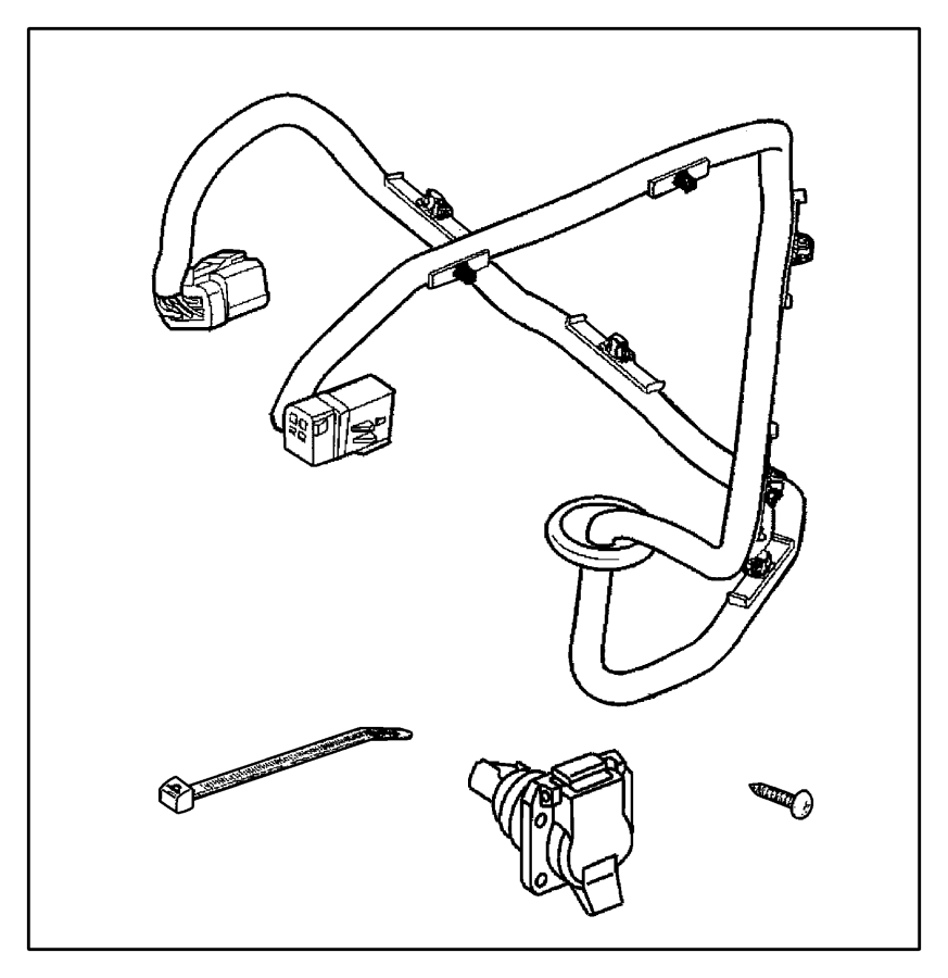 82204724ab - dodge wiring kit  trailer tow