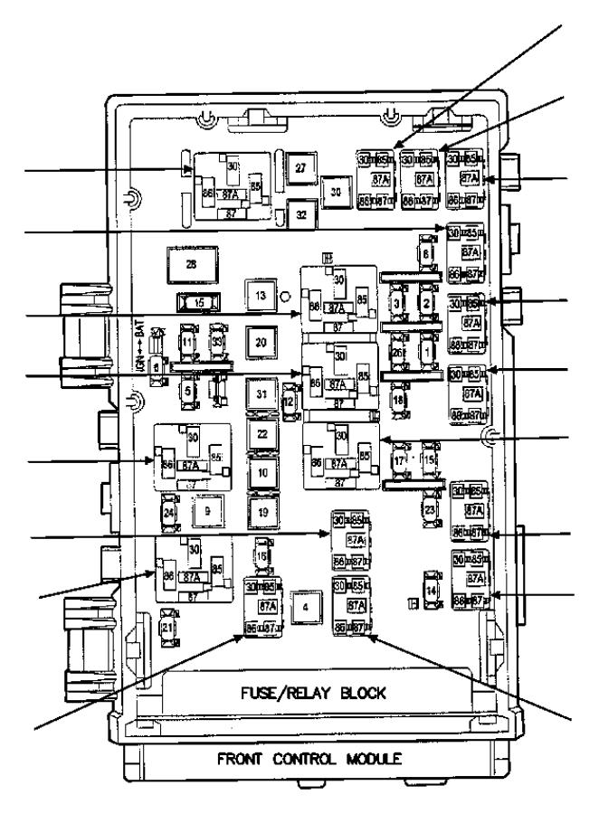 dodge caravan power distribution center  infinityfog