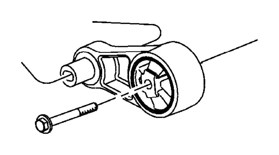Dodge Neon Isolator  Transmission Mount  Manual