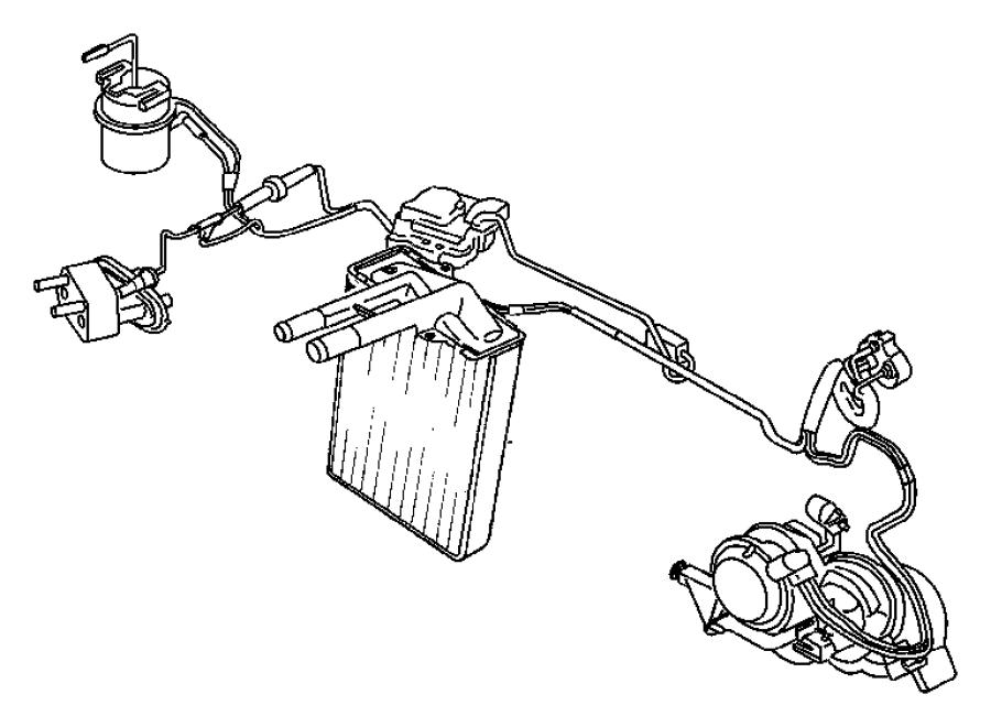 2003 Jeep Liberty Actuator  A  C And Heater  Blend Door  Wheeling