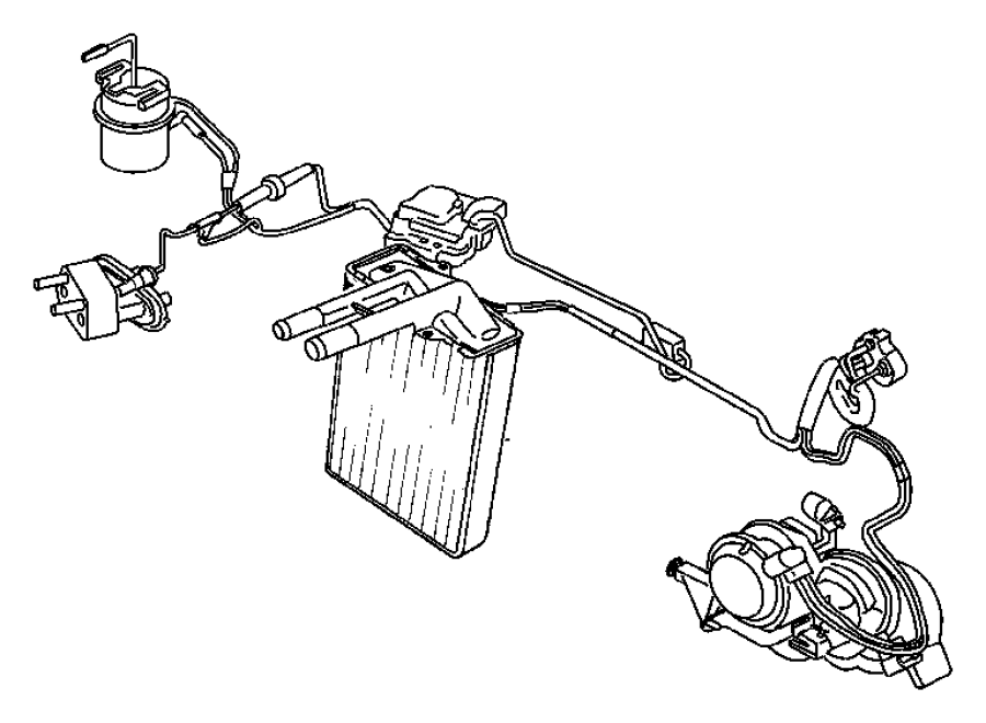 Jeep Liberty Actuator  Used For  A  C And Heater  Vacuum  Recirculation  Wheeling