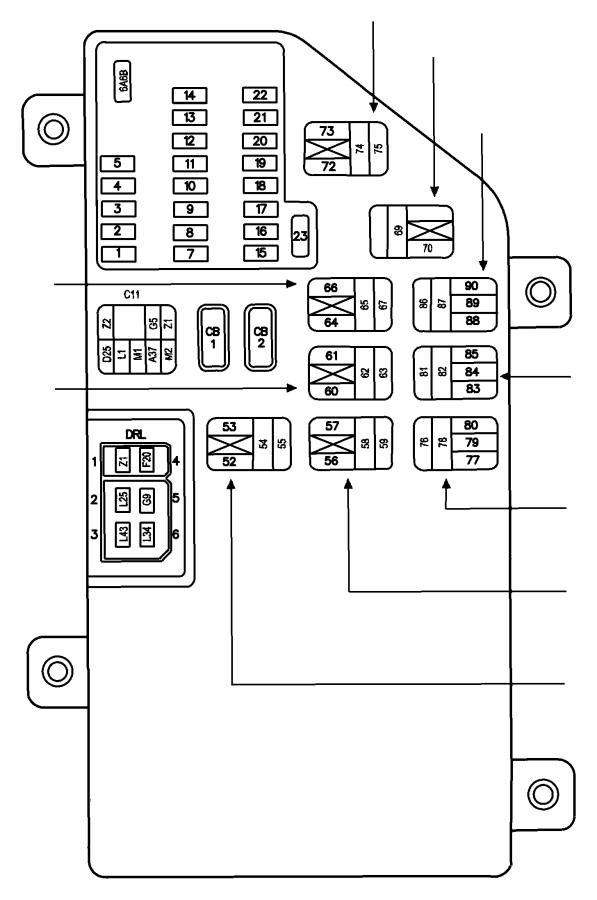 Dodge Intrepid Junction Block  Instrument Panel