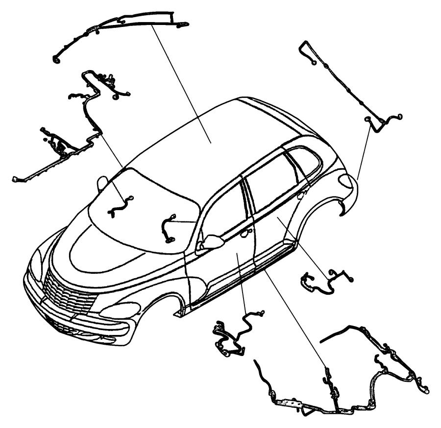 Chrysler Pt Cruiser Wiring  Header  Trim   All Trim Codes