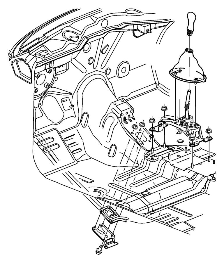 Dodge Neon Plate  Transmission Shifter